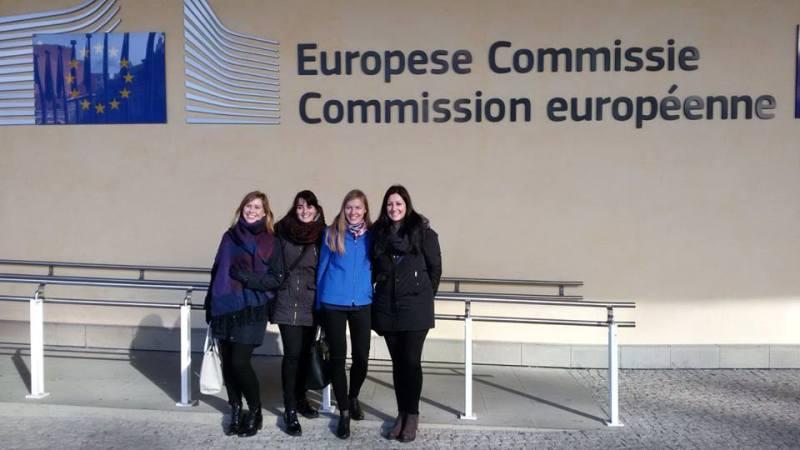 Ilustracja do informacji: Kolejni wolonariusze EVS w ramach projektu yBBregions już w Brukseli!
