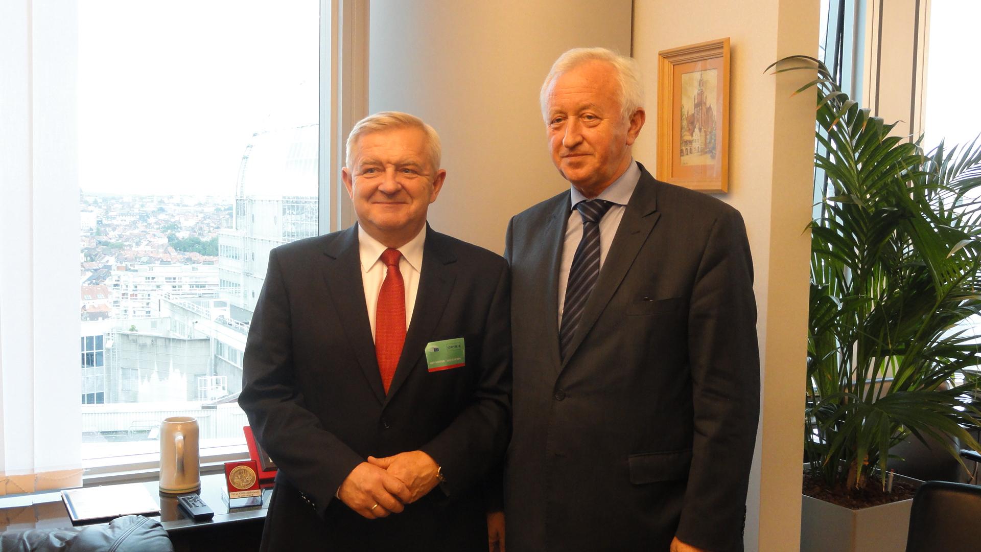 Ilustracja do informacji: Wizyta Członka Zarządu Województwa Lubuskiego w Brukseli