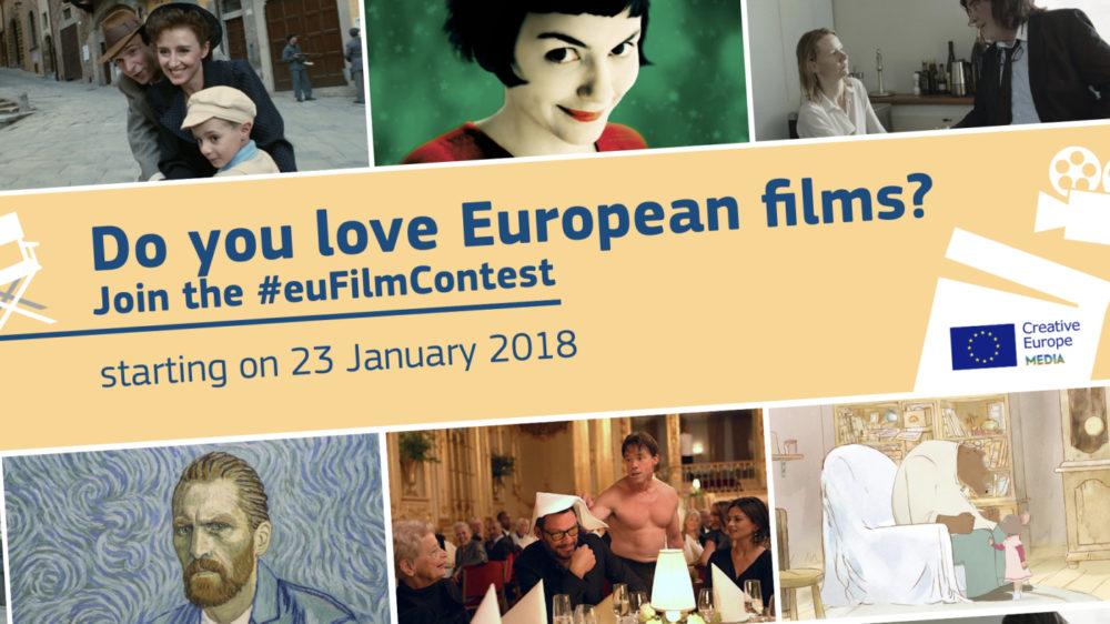 Ilustracja do informacji: #EUFILMCONTEST: Wygraj wyjazd na Międzynarodowy Festiwal Filmowy w Cannes!