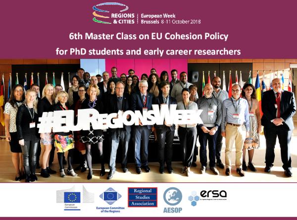 Ilustracja do informacji: Europejski Tydzień Regionów i Miast 2018 - Master Class na temat Polityki Spójności UE dla doktorantów i początkujących naukowców