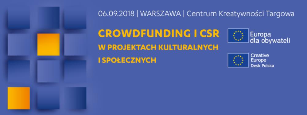 Ilustracja do informacji: Crowdfunding i CSR w projektach kulturalnych i społecznych - seminarium w Warszawie