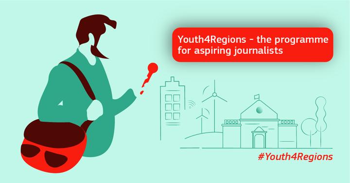 Ilustracja do informacji: Wyjazdy prasowe #Youth4Regions: otwarty nabór dla początkujących dziennikarzy