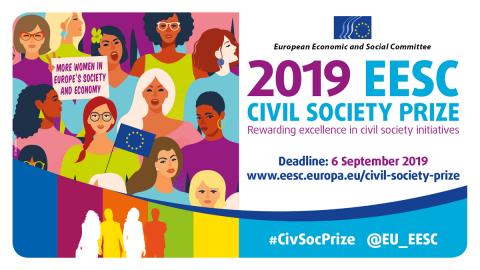 Ilustracja do informacji: Nagroda dla Społeczeństwa Obywatelskiego EKES-u w 2019 roku poświęcona wzmocnieniu pozycji kobiet i walce o równouprawnienie płci