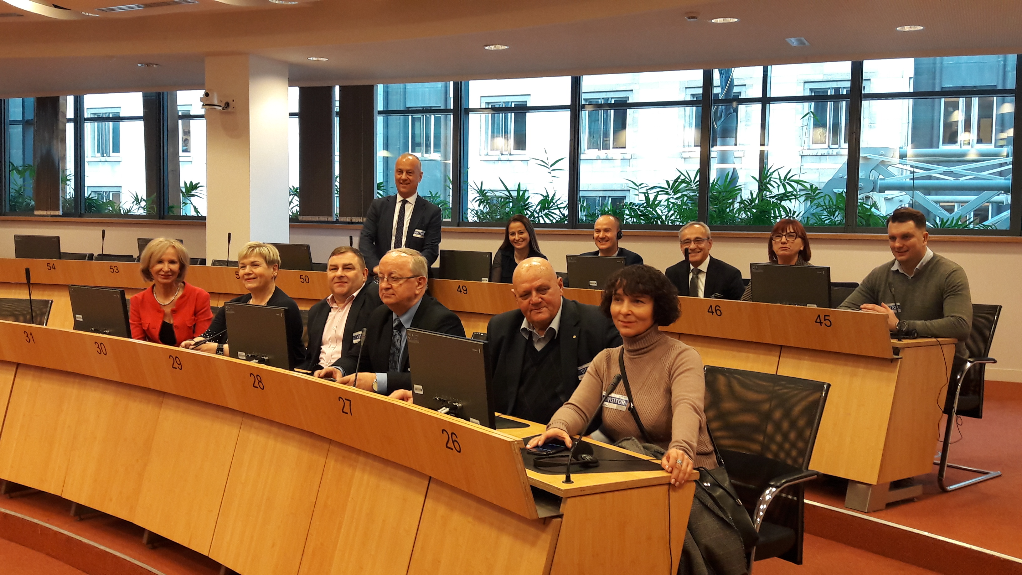 Ilustracja do informacji: Wizyta studyjna Radnych Województwa w Brukseli