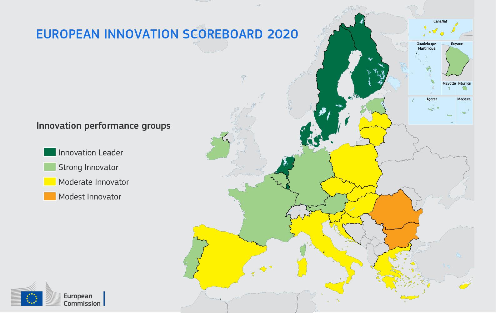 Ilustracja do informacji: Europejski Ranking Innowacyjności 2020