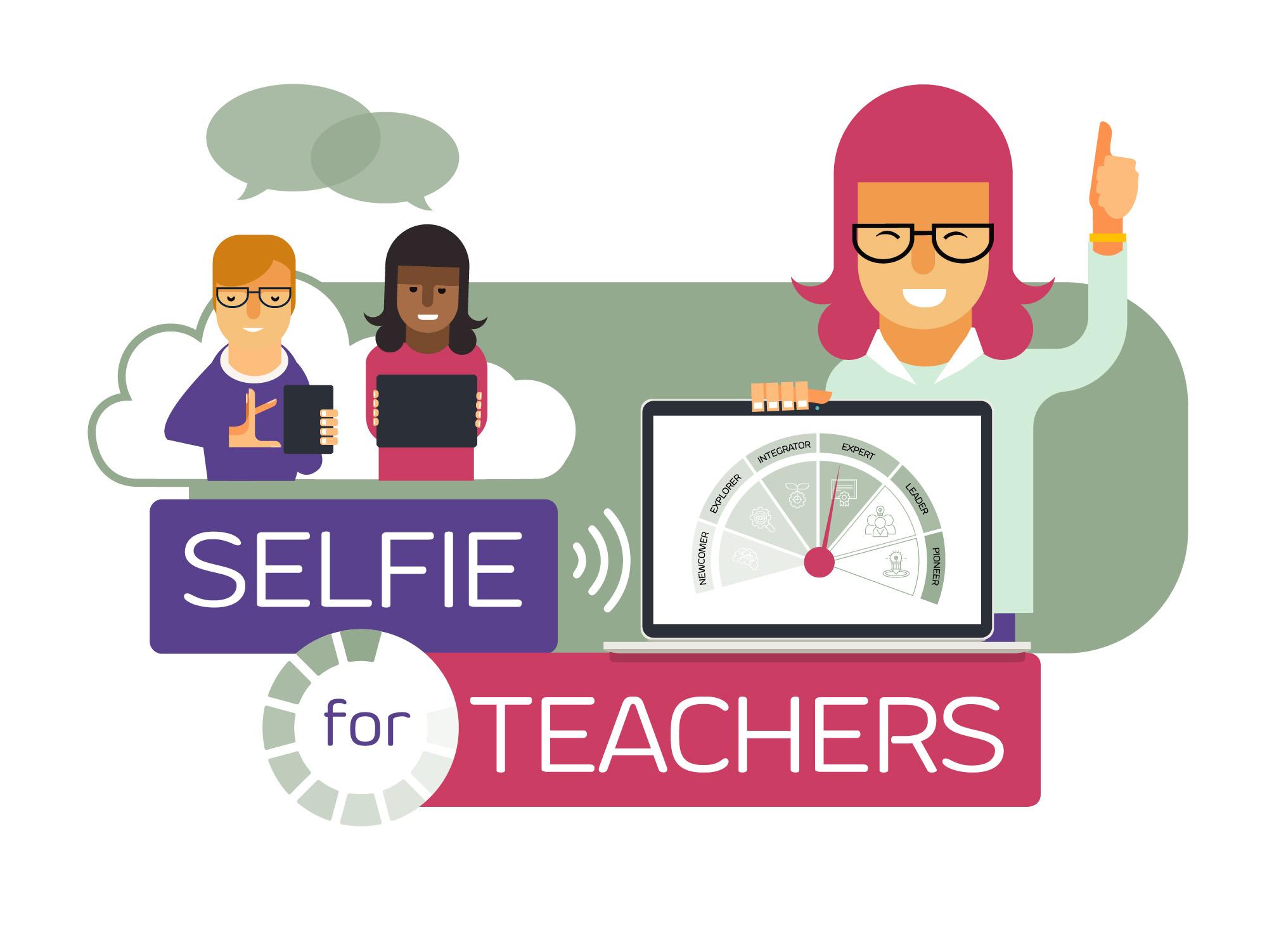 Ilustracja do informacji: SELFIEforTEACHERS - nowe narzędzie internetowe dla nauczycieli